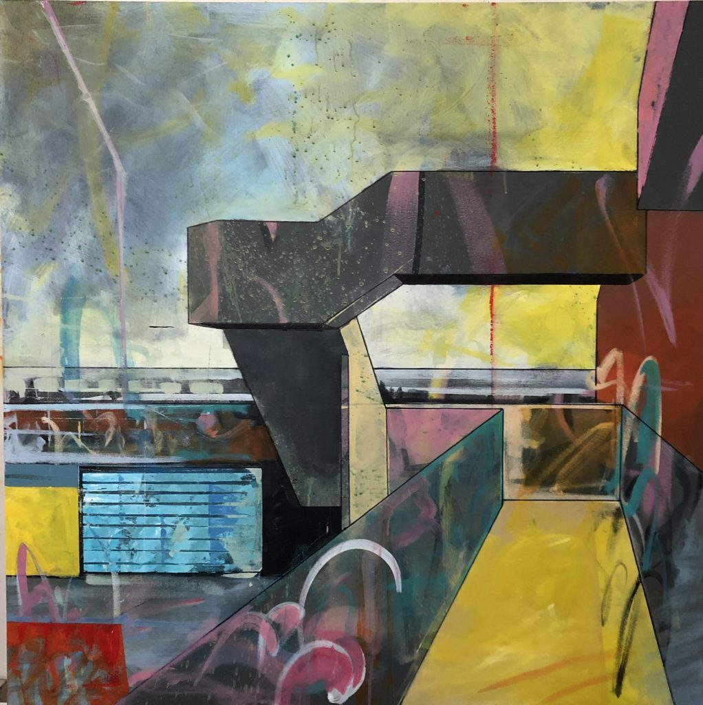 Regional Gap, Acrylic on Canvas, 100 x 100cm, 2019
